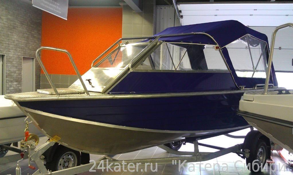 Купить алюминиевую лодку с полурубкой